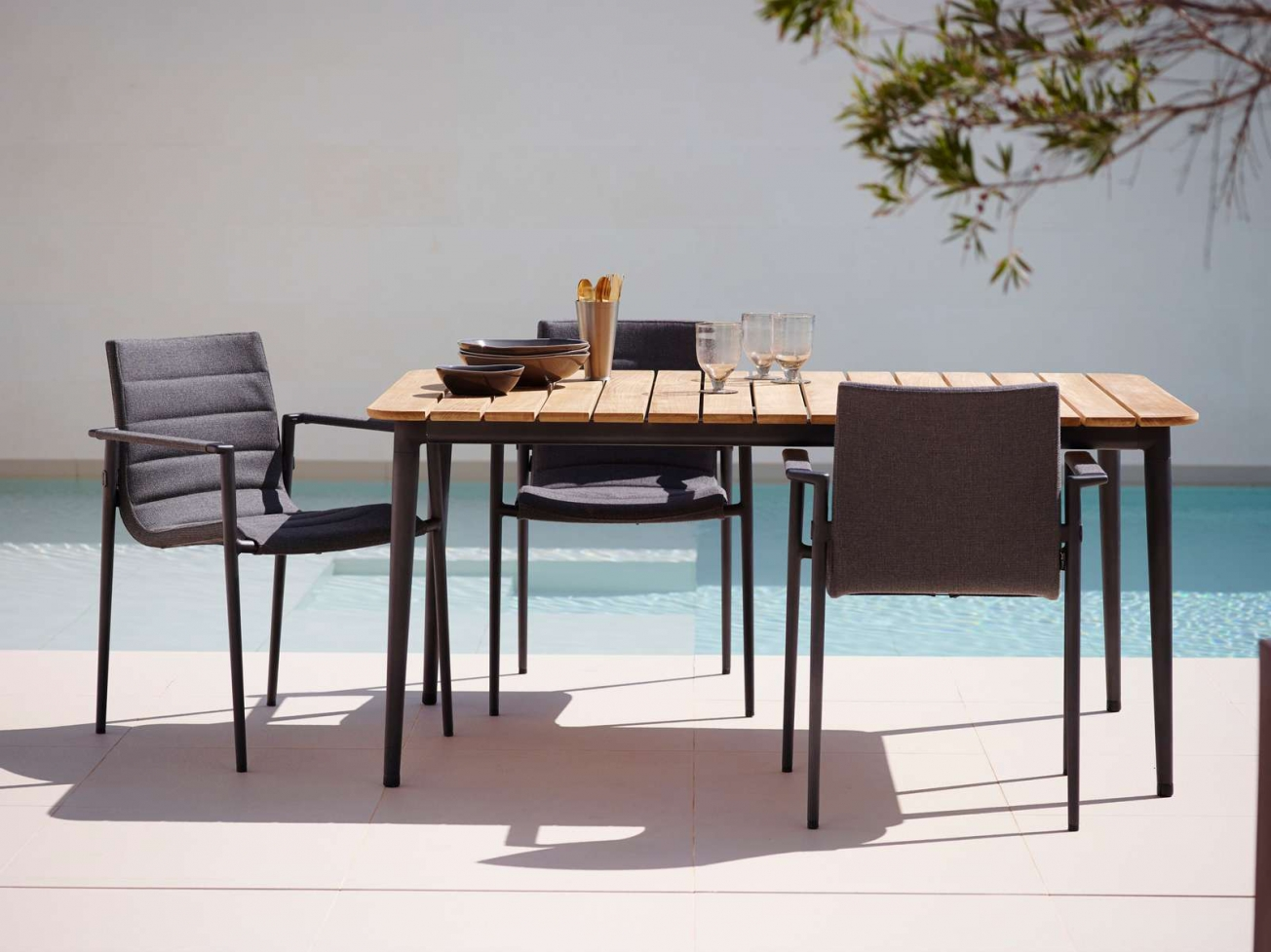 Core Outdoor Dining Chairs With Armrests ...