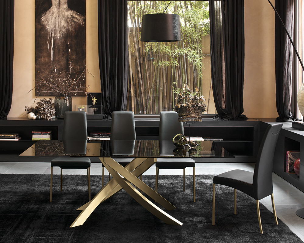 Artistico Gold Dining Table from Bontempi Casa
